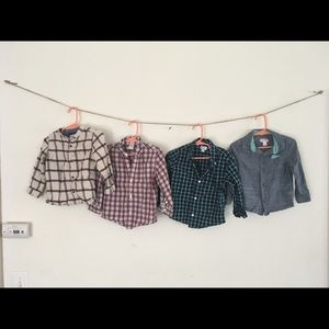 Lot of four 2T boys button up shirts